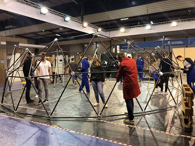 dôme géodésique DUT GMP atelier salon industriel usine du futur équipe professionnalisation